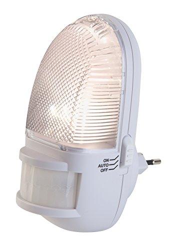 LED-Nachtlicht Nachtlampe Steckdosenleuchte | Mit Bewegungsmelder | Weiß | LED