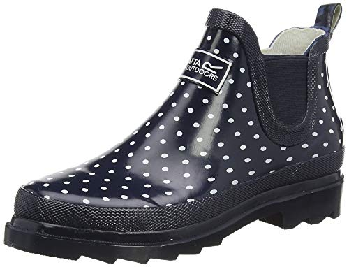 Regatta Damen Lady Harper Welly Rain Boot, Navy Polka, 36 EU