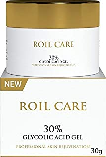 Glycolic Acid Cream 30% Professional Premium Chemical Face Peel with Retinol, Green Tea Extract, Acne Scars, Collagen Boost Face Moisturiser For Night & Day; Anti Ageing Fine Lines & Sensitive Skin