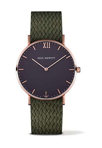 Paul Hewitt Herren Analog Quarz Uhr mit Stoff Armband PH-SA-R-St-B-20M