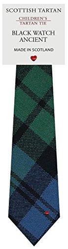 I Luv Ltd Garçon Tout Cravate en Laine Tissé et Fabriqué en Ecosse à Black Watch Ancient Tartan