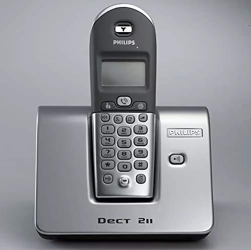 Philips DECT2111S/02 Telefon schnurlos digital 40 Nummern LCD 18/250 Stunden Silber