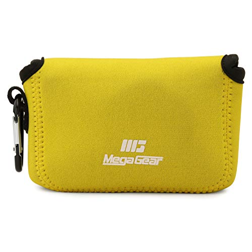 MegaGear MG1843 - Funda Ultraligera de Neopreno Compatible con Canon PowerShot G7 X Mark III, G7 X Mark II, Color Amarillo