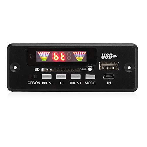 V BESTLIFE DC 5V/12V Bluetooth 5.0 Audio Decoder Board Audio Module USB AUX SD FM Radio Lossless MP3/WMA/WAV/FLAC/APE Decoder Board Module(Black)