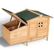 Avec le système sur pilotis, protégez vos poules de tous les prédateurs et récupérez de bons œufs ! Accès et nettoyage facilités grâce à la porte, le toit relevable et le tiroir à déjections ! La maisonnette, le pondoir et les portes à loquet assuren...