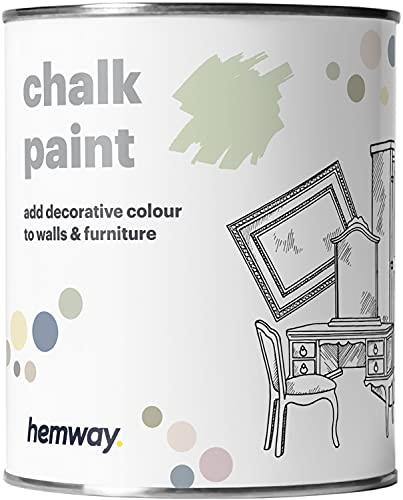 Hemway - Pintura de Tiza con Acabado Mate - para Muebles y Paredes - Disponible en 14 Colores - 1 l