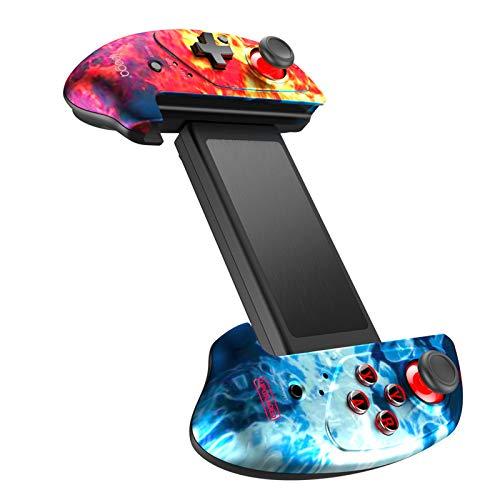 Qalabka Gamepad joysti, PG-9083B BT Gamepad Controlador de Juegos retráctil inalámbrico Compatible con iOS (iOS11-13.3) Android Smartphone Tablet PC