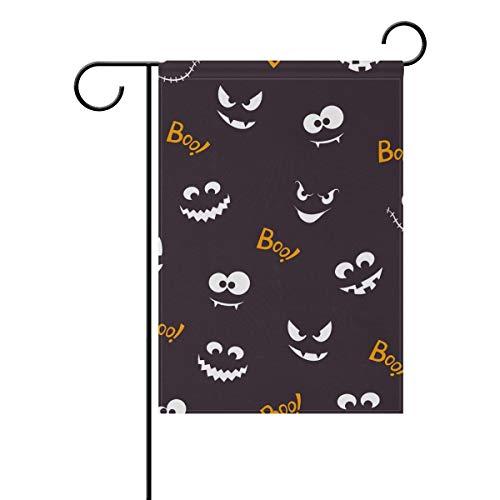 SENNSEE Funny Halloween Boo Jardin Drapeau 30,5 x 45,7 cm Double Face Yard House Drapeau extérieur Décoration de Maison, Polyester, Multicolore, 28x40(in)