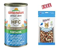 Almo Nature HFC Atlantic Tuna 6 x 140g Supplementary food for cats of all ages With fresh, high-quality ingredients: with 38% - 59% finest quality fresh meat and fish, as well as ham, cheese or vegetables, of human grade quality Natural: cooked and p...