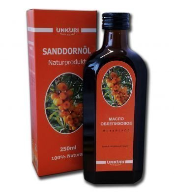 unkuri Sanddorn Öl (250 ml) Sanddornöl Sanddornoel