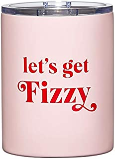 Santa Barbara Design Studio Holiday Collection Stainless Steel Tumbler, 12-Ounce, Let's Get Fizzy