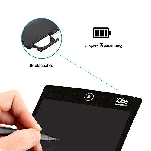 『iQbe 電子メモパッド 電子メモ帳 デジタルペーパー LW01-BK ブラック』の4枚目の画像