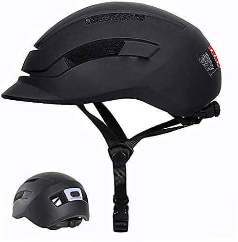 自転車 ヘルメット 成人 LEDライト付き 軽量 自...