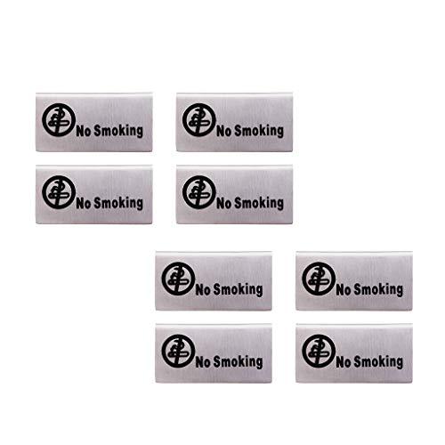 dailymall Letreros de de 8 Piezas de Acero Inoxidable Estilo Tienda '' Prohibido Fumar/Reservado ''