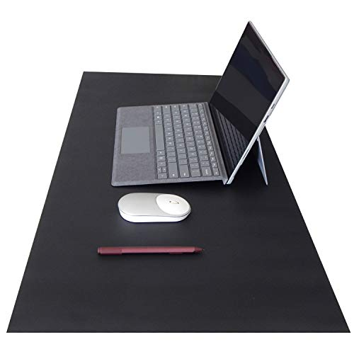OFFIDIX Office Desk Mat,Desktop PU Leather Desk Pad Non Slip Leather Protective Desk Pad Laptop Mat Gaming Writing Mat for Laptop PC Keyboard Office