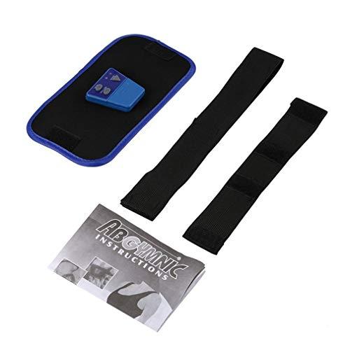 Deliu PVC Gymnic Cuerpo Músculo Brazo Pierna Cintura Masaje Abdominal Ejercicio Cinturón Adelgazante Negro con Azul