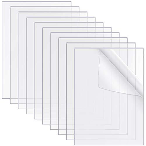10 Stücke Transparente Acryl Blätter 6 x 4 Zoll Klare Acryl Blätter Zeichen Acryl Platte für Bilder Rahmen Glas Ersatz Tisch Zeichen Kalligraphie Malerei, 0,08 Zoll Dick