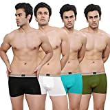 NAVRO Bio-Washed Mens Set of 4 Trunks