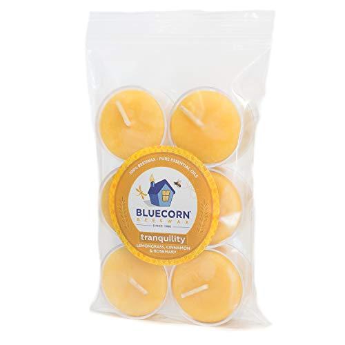 Bluecorn Beeswax Aromatherapy Tea Lights (6-Pack) (Tranquility)