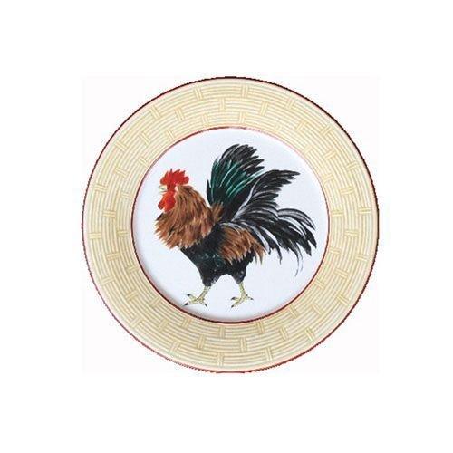 Faïencerie de Niderviller ~ Assiette Plate Ronde Cour Normande Paille faïence - Lot de 4
