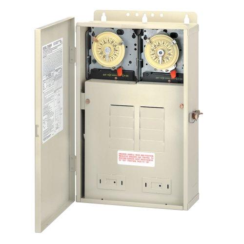 Intermatic T30404R Pool/Spa Control Panel 2xT104M, Color