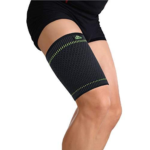 MOXIN Oberschenkel Bandage Muskelfaserriss Kompression Oberschenkelbandage für Oberschenkel und Ischiasnerven, Prävention von Muskelzerrungen und Rehabilitation,Grau