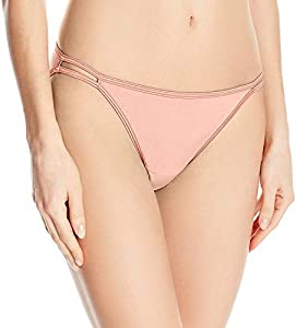 Vanity Fair Illumination Body Shine String Bikini Panty 18108 Ropa Interior, Dulce Nectar, M para Mujer