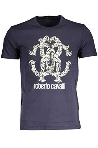 Roberto Cavalli FST675 T-Shirt mit kurtzen Ärmeln Harren blau Navy M