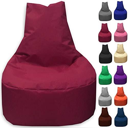 Sitzbag Sitzsack Sessel XL - XXL für Kinder und Erwachsene - In & Outdoor Sitzsäcke Kissen Sofa Hocker Sitzkissen Bodenkissen (XXL - 80cm Durchmesser, Bordeaux)