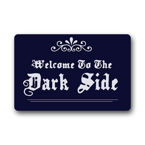 Alfombra de franela ZMvise Welcome to the Dark Side antideslizante de goma para interiores y exteriores, 45,7 x 76,2 cm