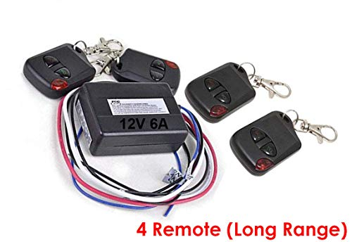 iMBAPrice RM01-4R (4 Remote Control) 12V, 6 Amps, Heavy Duty Boat and Car Universal Remote Control Kit
