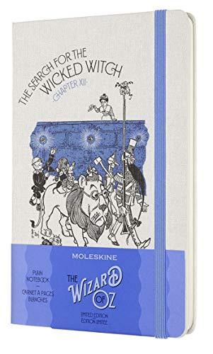 Moleskine - Taccuino in Edizione Limitata Il Mago di Oz, Notebook a Tema Strega cattiva, Layout Pagine Bianche, Copertina Rigida in Tessuto, Formato Large 13 x 21 cm, Colore Blu, 240 Pagine