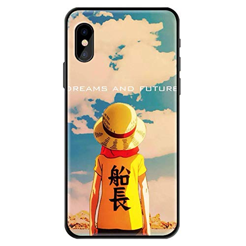 Carcasa de Cristal Templado One Piece Luffy Zoro para iPhone 6 6S 7 8 Plus X XR XS 11 12 Pro MAX Mini SE 2020-Photo_Color_XS