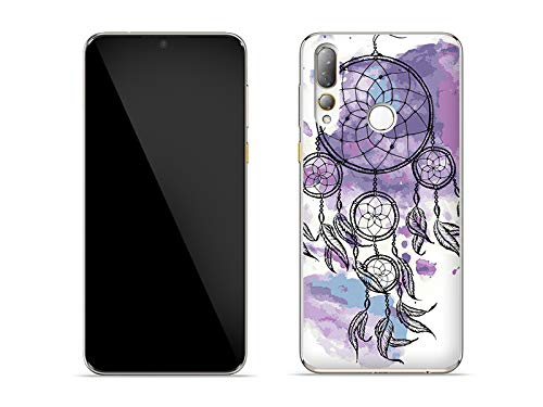 etuo Hülle für HTC Desire 19 Plus - Hülle Fantastic Hülle - Violetter Traumfänger Handyhülle Schutzhülle Etui Hülle Cover Tasche für Handy