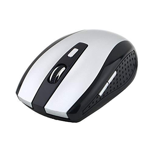 5 botones + 1 rueda de desplazamiento ratones de ordenador con receptor USB 2.4 GHz ratón óptico inalámbrico universal para PC portátil
