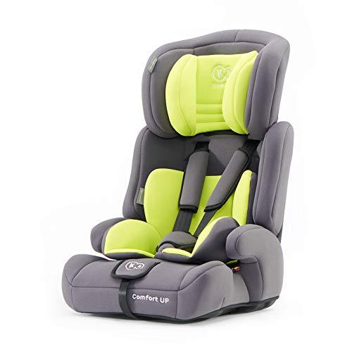 Kinderkraft Kinderautositz COMFORT UP, Autokindersitz, Autositz, Kindersitz, Gruppe 1/2/3 9-36kg, 3-Punkt-Sicherheitsgurt, Einstellbare Kopfstütze, ECE R44/04, Grün