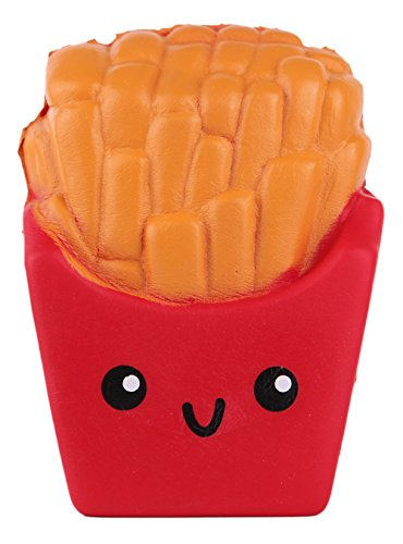 Anboor 3.9 Inches Slow Rising Kawaii Scented Soft French Fries Squishies Food Toy 1 Pcs Color Random