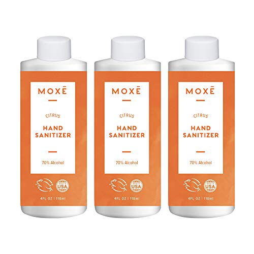MOXE Citrus Hand Sanitizer Gel 70% Ethyl Alcohol - Made in...