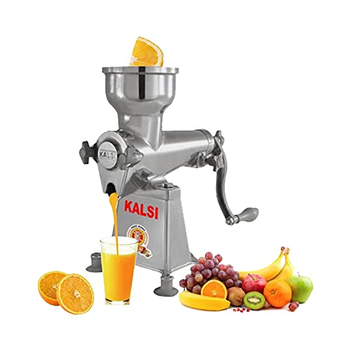 Kalsi Hand Operated Juicer Machine, Silver (No. - 9)
