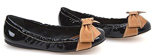 Prada Scarpa Ballerina Donna Vernice Nero Art. 1F930C 36,5 Nero - Black