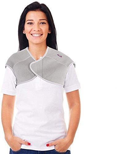 Shoulder Heating Heat Pad,Unisex Adjustable Self-Heating Therapy Magnetic Shoulder Pad Protector Relief Pain fatigue (L)