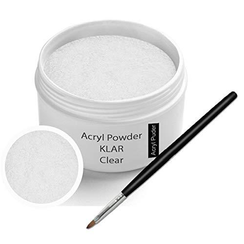 Poudre acrylique 30g clair incl. Pinceau acrylique