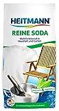 Heitmann Carbonato di sodio puro multiuso 500g: per la pulizia di casa, bagno e giardino, contro le muffe su pietra