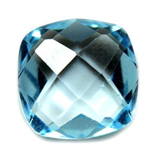 CaratYogi 9X9 MM Tamaño Genuino Azul Topaz Forma de Cojín Tablero Suelto Piedras Preciosas para La Fabricación de Joyas