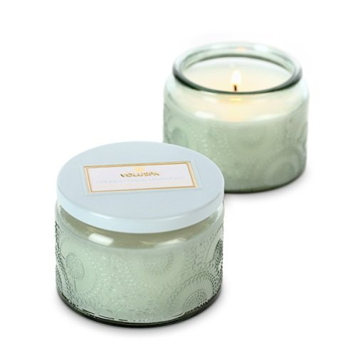 Voluspa Small Glass Jar Candle, French Cade and Lavender, 3.2 Ounce