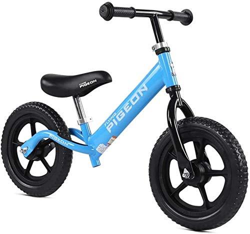 GAOTTINGSD Bicicleta de equilibrio ligera para niños de 2 a 3 a 6 años de edad con marco de acero al carbono, sin pedal, para entrenamiento (color: #1)