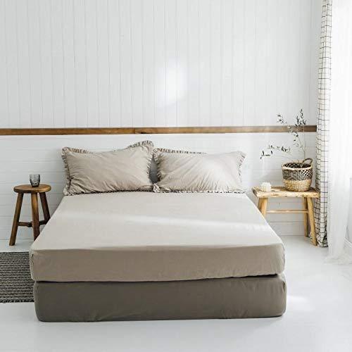 IKITOBI Sábanas bajeras, suave al tacto, no necesita planchado, resistente a las arrugas, cama de 1,2 m con 180 × 230 cm (sábana individual)