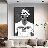 Rafael Nadal Poster Leinwand Malerei Wandkunst Bild für
