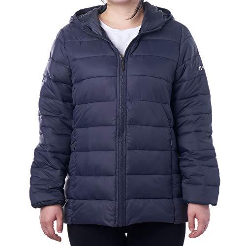 Alpine Swiss Eva Womens Down Alternative Puffer Jacket Hooded Light Packable Coat NVY SML