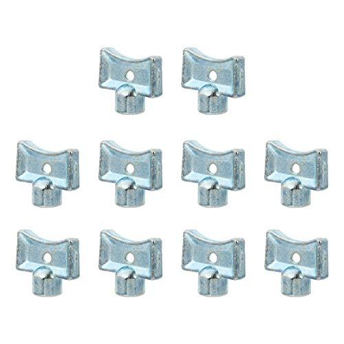 Happyyami Juego de Llaves Utilitarias Llave de Plomeros para Radiadores Cajas de Medidor Eléctrico de Gas Grifo Y Cerradura 10 Piezas